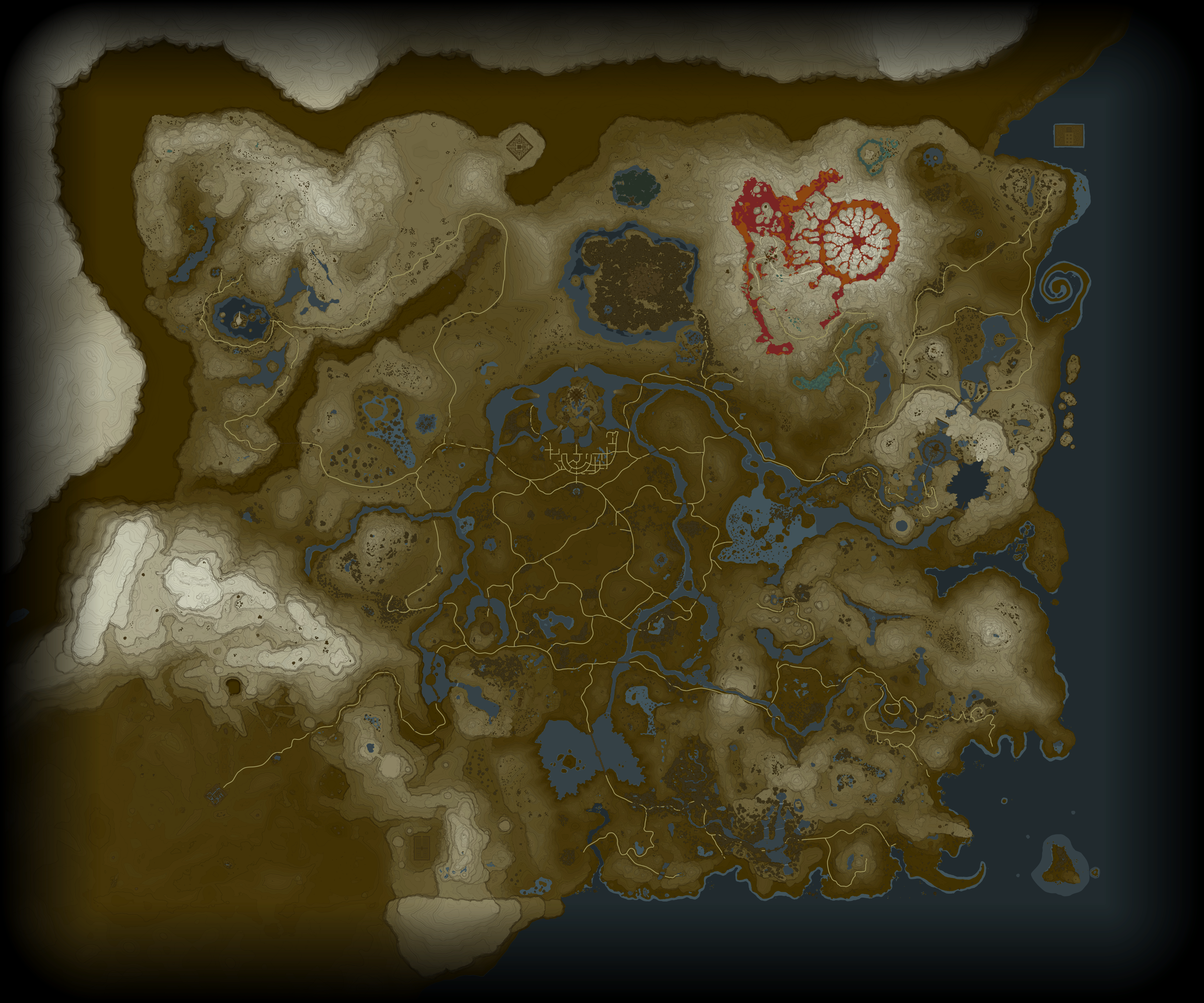 Zelda: Breath of the Wild Waypoint Map on skyward sword map, wind waker map, star wars map, smash brothers map, harvest moon map, kingdom hearts map, minecraft map, mario world map, hyrule map, super mario map, zilla map, castlevania 3 map, gta map, castlevania 2 map, pokemon map, metroid map, oracle of ages map, ocarina of time map, mario kart map, ikana map,